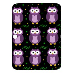 Halloween Purple Owls Pattern Samsung Galaxy Tab 3 (10 1 ) P5200 Hardshell Case  by Valentinaart