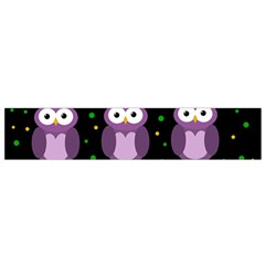 Halloween Purple Owls Pattern Flano Scarf (small) by Valentinaart