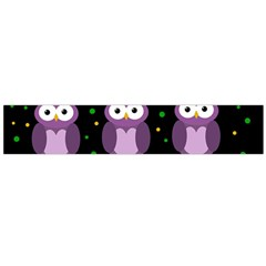 Halloween Purple Owls Pattern Flano Scarf (large) by Valentinaart