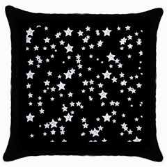 Black And White Starry Pattern Throw Pillow Case (black) by DanaeStudio