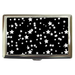 Black And White Starry Pattern Cigarette Money Cases by DanaeStudio