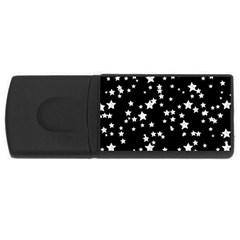 Black And White Starry Pattern Usb Flash Drive Rectangular (4 Gb)  by DanaeStudio