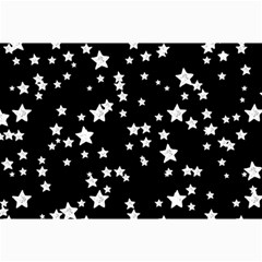 Black And White Starry Pattern Collage Prints by DanaeStudio
