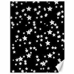 Black And White Starry Pattern Canvas 36  X 48   by DanaeStudio