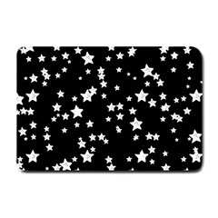 Black And White Starry Pattern Small Doormat  by DanaeStudio