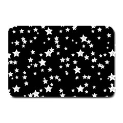 Black And White Starry Pattern Plate Mats by DanaeStudio
