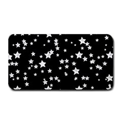 Black And White Starry Pattern Medium Bar Mats by DanaeStudio