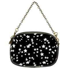 Black And White Starry Pattern Chain Purses (one Side)  by DanaeStudio