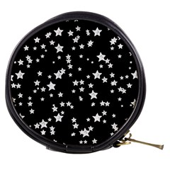 Black And White Starry Pattern Mini Makeup Bags by DanaeStudio