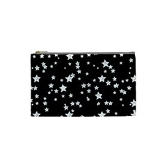 Black And White Starry Pattern Cosmetic Bag (small)  by DanaeStudio