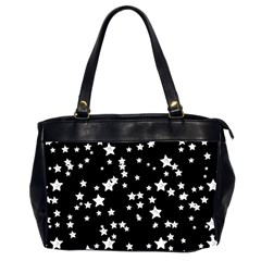 Black And White Starry Pattern Office Handbags (2 Sides)  by DanaeStudio