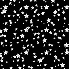 Black And White Starry Pattern Magic Photo Cubes by DanaeStudio