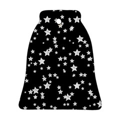 Black And White Starry Pattern Ornament (bell)  by DanaeStudio