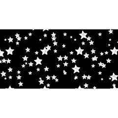 Black And White Starry Pattern You Are Invited 3d Greeting Card (8x4) by DanaeStudio