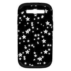 Black And White Starry Pattern Samsung Galaxy S Iii Hardshell Case (pc+silicone) by DanaeStudio