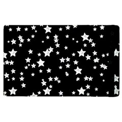 Black And White Starry Pattern Apple Ipad 2 Flip Case by DanaeStudio