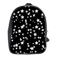Black And White Starry Pattern School Bags (xl)  by DanaeStudio