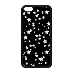 Black And White Starry Pattern Apple Iphone 5c Seamless Case (black) by DanaeStudio