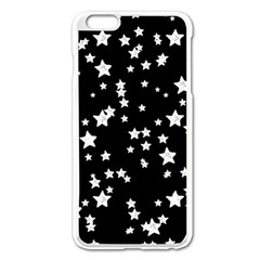 Black And White Starry Pattern Apple Iphone 6 Plus/6s Plus Enamel White Case by DanaeStudio
