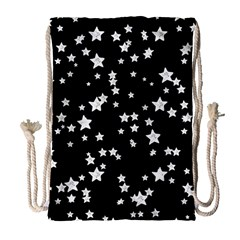 Black And White Starry Pattern Drawstring Bag (large) by DanaeStudio