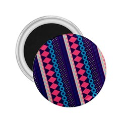 Purple And Pink Retro Geometric Pattern 2 25  Magnets by DanaeStudio
