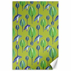 Tropical Floral Pattern Canvas 24  X 36  by dflcprints