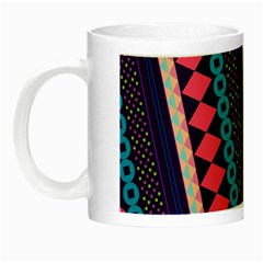 Purple And Pink Retro Geometric Pattern Night Luminous Mugs by DanaeStudio