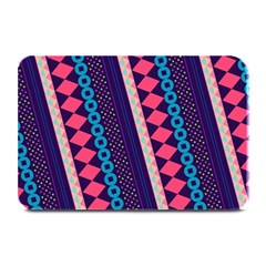 Purple And Pink Retro Geometric Pattern Plate Mats by DanaeStudio