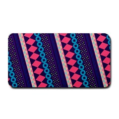 Purple And Pink Retro Geometric Pattern Medium Bar Mats by DanaeStudio