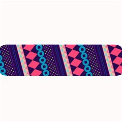 Purple And Pink Retro Geometric Pattern Large Bar Mats by DanaeStudio