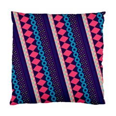 Purple And Pink Retro Geometric Pattern Standard Cushion Case (one Side) by DanaeStudio