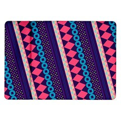 Purple And Pink Retro Geometric Pattern Samsung Galaxy Tab 10 1  P7500 Flip Case by DanaeStudio