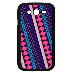Purple And Pink Retro Geometric Pattern Samsung Galaxy Grand Duos I9082 Case (black)