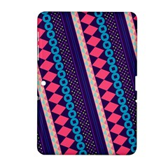 Purple And Pink Retro Geometric Pattern Samsung Galaxy Tab 2 (10 1 ) P5100 Hardshell Case  by DanaeStudio