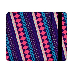 Purple And Pink Retro Geometric Pattern Samsung Galaxy Tab Pro 8 4  Flip Case by DanaeStudio