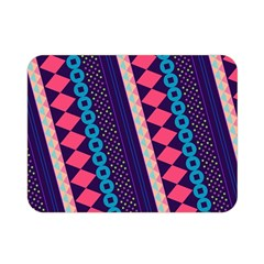 Purple And Pink Retro Geometric Pattern Double Sided Flano Blanket (mini)  by DanaeStudio