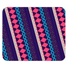Purple And Pink Retro Geometric Pattern Double Sided Flano Blanket (small)  by DanaeStudio
