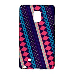Purple And Pink Retro Geometric Pattern Galaxy Note Edge by DanaeStudio