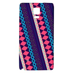 Purple And Pink Retro Geometric Pattern Galaxy Note 4 Back Case by DanaeStudio