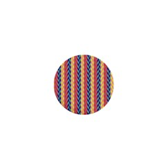 Colorful Chevron Retro Pattern 1  Mini Magnets by DanaeStudio