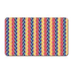 Colorful Chevron Retro Pattern Magnet (rectangular) by DanaeStudio