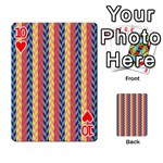 Colorful Chevron Retro Pattern Playing Cards 54 Designs  Front - Heart10
