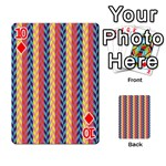 Colorful Chevron Retro Pattern Playing Cards 54 Designs  Front - Diamond10