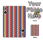 Colorful Chevron Retro Pattern Playing Cards 54 Designs  Front - Club8