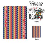 Colorful Chevron Retro Pattern Playing Cards 54 Designs  Front - Joker2