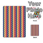 Colorful Chevron Retro Pattern Playing Cards 54 Designs  Back