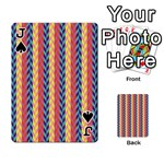 Colorful Chevron Retro Pattern Playing Cards 54 Designs  Front - SpadeJ