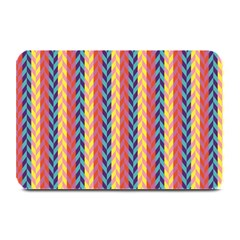 Colorful Chevron Retro Pattern Plate Mats by DanaeStudio