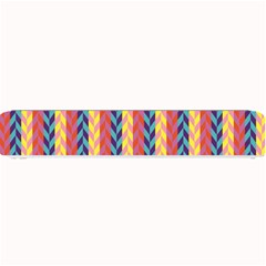Colorful Chevron Retro Pattern Small Bar Mats by DanaeStudio