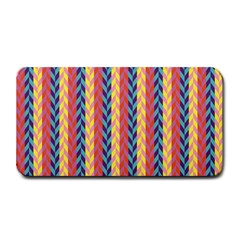 Colorful Chevron Retro Pattern Medium Bar Mats by DanaeStudio